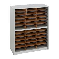 Desk Organizer Sorter by Value Sorter Literature Organizer 36 Compartment Safco Products