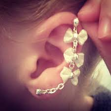 best place to buy cartilage earrings 44 bow cartilage earring bow cartilage chain earrings by