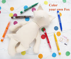 make your own plush color your own fox stuffed fox make your own plush