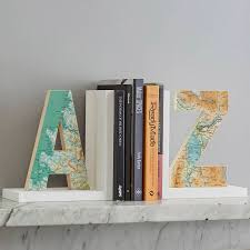 Unusual Bookends Personalised Map Location Letter Bookend By Bombus