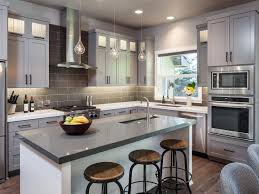 grey kitchen cabinets with white countertops all design idea
