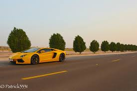 Lamborghini Aventador On Road - desert run with a lamborghini aventador lp700 4