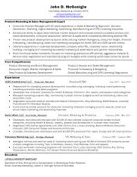Sample Marketing Resume by Sample Resume For Sales And Marketing Manager Sales And Marketing