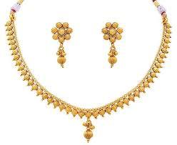 necklace jewellery set images Ethnic khazana traditional ethnic one gram gold plated delicate jpg