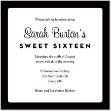 formal invitations traditional black border white square invitations stationery
