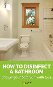 how to clean a bathroom pine sol