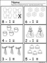 winter math worksheets free january kindergarten worksheets