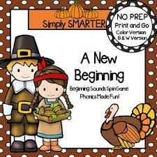 a new beginning no prep thanksgiving beginning sounds spin