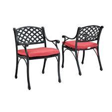 Black Cast Aluminum Patio Furniture Walker Edison Black Cast Aluminum Patio Dining Chairs Set Of 2