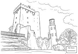 irish castle coloring page coloring pages for kids blarney castle countries cultures ireland