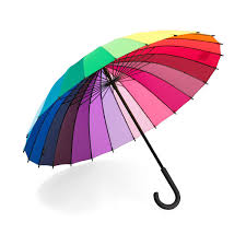 color wheel stick umbrella rainbow cane handle uncommongoods