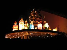 unique outdoor lights ideas unique outdoor nativity