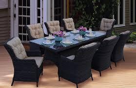 Agio Panorama Patio Furniture Amazon Com Darlee 9 Piece Valencia Wicker Rectangular Dining Set
