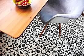 peranakan tiles pattern retro black and whitevintage look vinyl