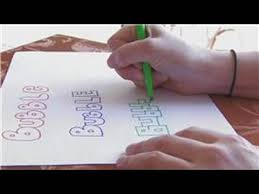 craft projects for kids how to write bubble letters youtube