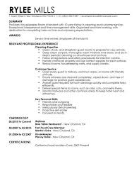 Sample Resume For Hotel by Resume Examples Housekeeping Housekeeper Resume Housekeeper