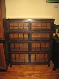Macey Barrister Bookcase We Ship Macey Mission Oak Double Wide 4 Stack Bookcase Arts