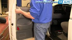Ford F150 Truck Manual - how to install replace remove inside door panel manual windows