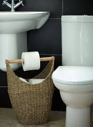 Seagrass Bathroom Storage Toilet Roll Storage House Decorations