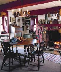 dutch colonial stone house and local antiques old house in the kitchen an 18th century english swing leg table is surrounded by