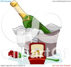 champagne glasses clipart clipart of a diamond engagement ring champagne glasses and a