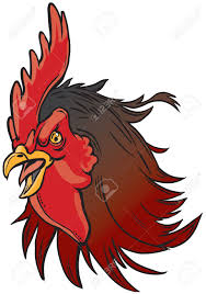 Gamecock Flag Vector Cartoon Clip Art Illustration Of A Realistic Rooster Or