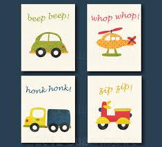 Transportation Nursery Decor Transportation Nursery Print Set 8x10 Room Decor Baby