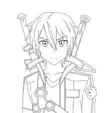 sword art coloring pages pintable coloring