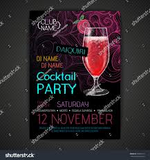 disco cocktail party poster stock vector 350621912 shutterstock
