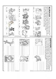 english teaching worksheets reptiles
