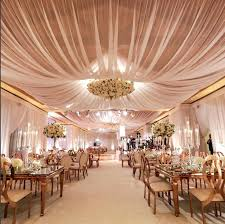 wedding decorations ceiling drapes indoor simple draping of lights