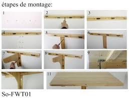 table de cuisine pliante murale sobuy fwt02 w table murale rabattable en bois plateaux platea