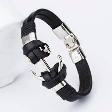 bracelet handmade leather images 2017 new fashion charm leather charm bracelets for men popular jpg