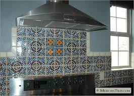 mexicantiles kitchen backsplash with royal and flor