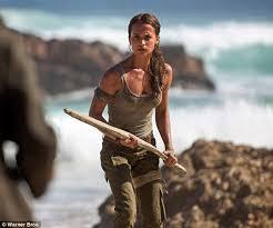 Plot Of Vanity Fair Alicia Vikander As Lara Croft Emerge From Film Set Daily Mail Online