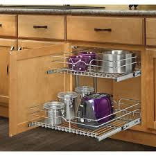 rev a shelf 19 in h x 14 75 in w x 22 in d base cabinet pull rev a shelf 19 in h x 14 75 in w x 22 in d base cabinet pull out chrome 2 tier wire basket 5wb2 1522 cr the home depot