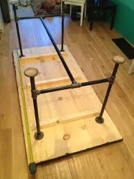 100 Diy Pipe Desk Plans Pipe Table Ideas And Inspiration by Dyi Table 2 Love The Legs And Having A Place To Put Your Feet Up