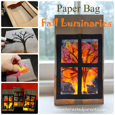 paper bag luminaries halloween paper bag fall luminaries u2013 the pinterested parent