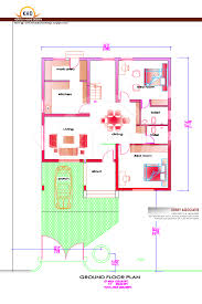 sqft kerala style 3 bedroom house plan from smart home gf plan house