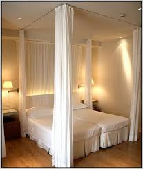 Hang Curtains From Ceiling Hang Curtains From Ceiling As Room Divider Home Apartment