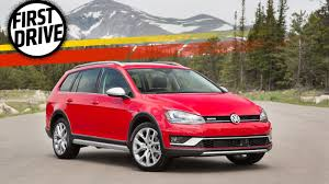 red volkswagen golf the 2017 volkswagen golf alltrack is the fun subaru fighting
