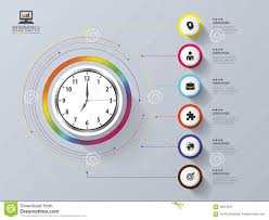 time design planner modern work time management planning infographic design template