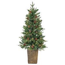 pre lit alpine christmas trees set of 3 kirklands