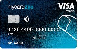 online prepaid credit card mycard2go