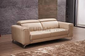 Cow Leather Sofa China Modern Real Leather Sofa Set With Retractable Headrests And