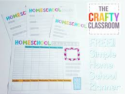 free home school free homeschool planning printables