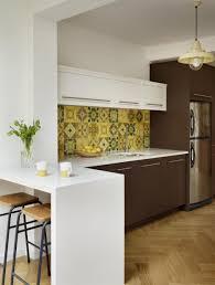 traditional kitchen islands beautiful pattern tile backsplash white breakfast bar small