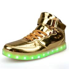 big kids light up shoes gold silver high top shoes that light up led shoes usb charged