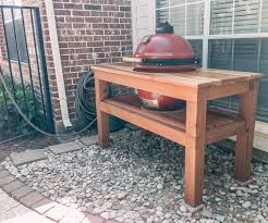 diy grill table plans inexpensive strong green egg table