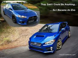 evo 2015 2015 subaru sti so i became an evo meme nick walker flickr